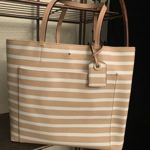 🔴 SALE Hyde lane stripe Kate spade tote Riley